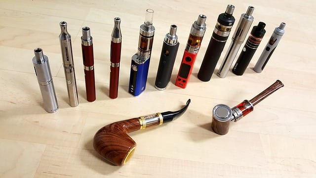 E-Zigarette verschiedene